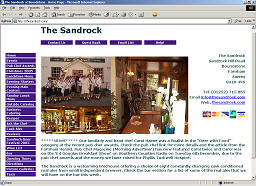 Home Page of The Sandrock Website
